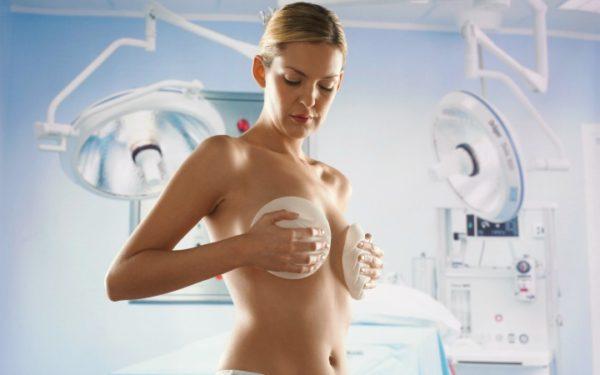 маммопластика груди каплевидными имплантами